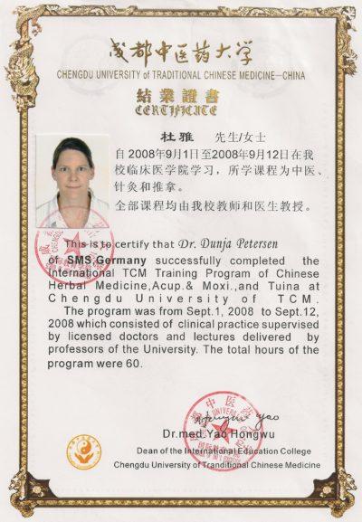 TCM-Ausbildung in China von Dr. Dunja Petersen
